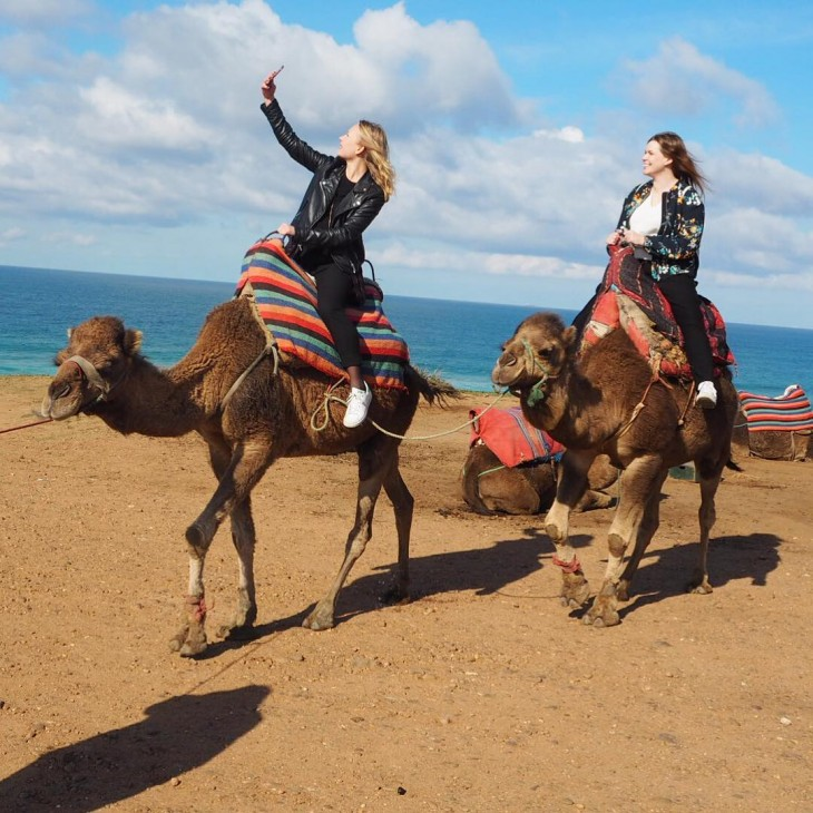 Just casually taking selfies while riding my camel firstthingsfirst