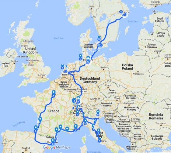 Lansi Euroopan Interrail Reilaus Interrail Vinkit