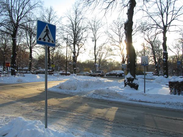 Karlavägen talvipäivänä. Kuva: © Matkoilla-blogi