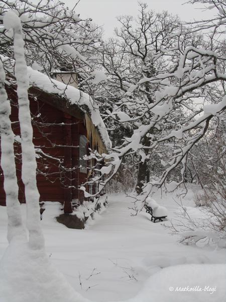 Skansenin talvimaisemaa. Kuva: © Matkoilla-blogi