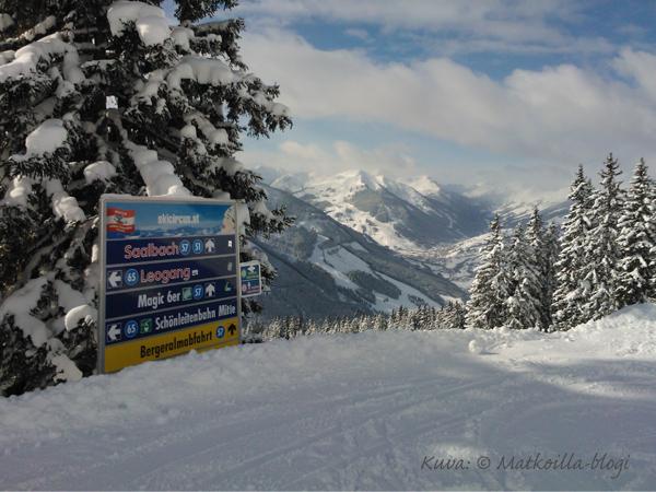 Aurinkoa, lunta ja maisemia - Perfekte verhältnisse! Kuva: © Matkoilla-blogi
