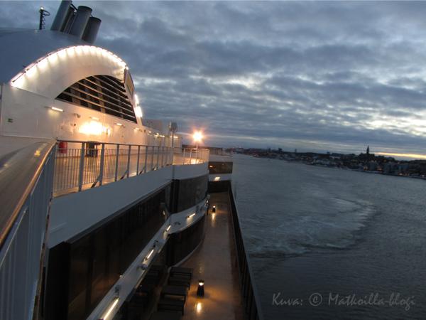 Viking Grace saapumassa Tukholmaan. Kuva: © Matkoilla-blogi