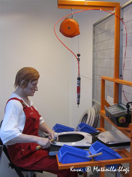 Työläismuseosta löytyi tämä työläinen - onko jonkun muunkin mielestä yhdennäköisyyttä tiettyyn suomalaiseen? Kuva: © Matkoilla-blogi