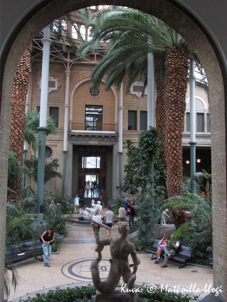 Ny Carlsberg Glyptotekin upea palmupuutarha. Kuva: © Matkoilla-blogi