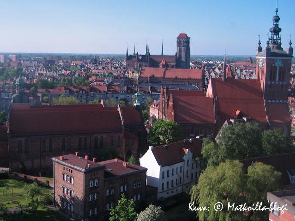 Näkymä yli Gdanskin vanhankaupungin. Kuva: © Matkoilla-blogi