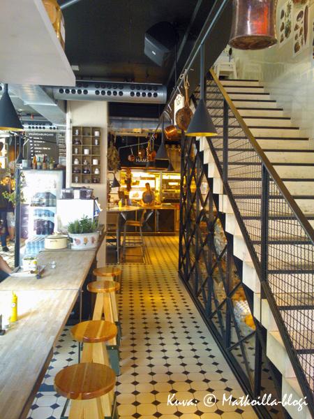 Vigårda-hampurilaisravintolan alakerta Mood-kauppakeskuksessa. Kuva: © Matkoilla-blogi