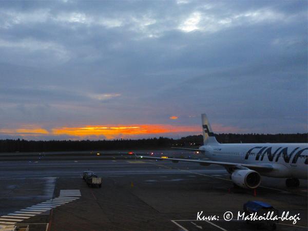 Syysaamu Helsinki-Vantaalla. Kuva: © Matkoilla-blogi