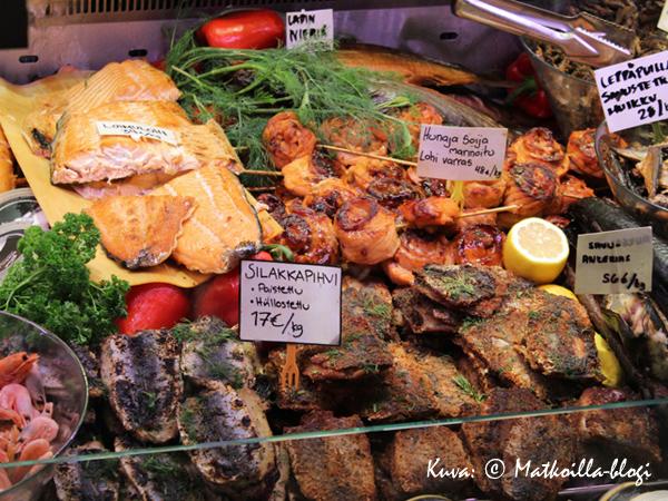 Myös kalatiskissä riittää valikoimaa... . Kuva: © Matkoilla-blogi