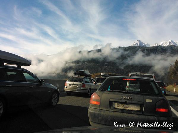 Tauernautobahnilla Stau... Kuva: © Matkoilla-blogi