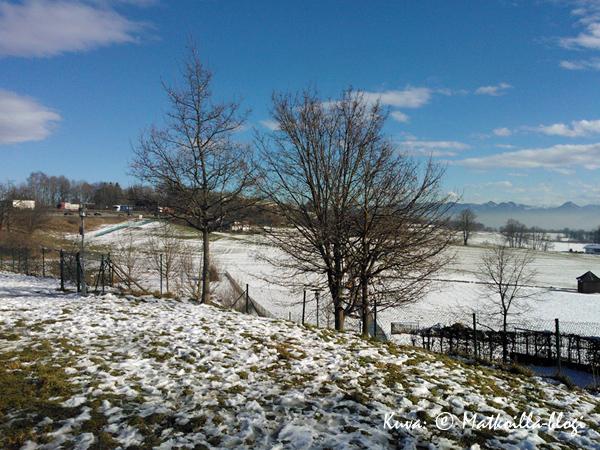 Irschenbergin rastilla ei vielä lumen määrä ihan vakuuttanut.. . Kuva: © Matkoilla-blogi