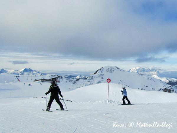 Zauchensee, Gamskogelin huipulla, josta MM-kisarinne alkaa. Kuva: © Matkoilla-blogi