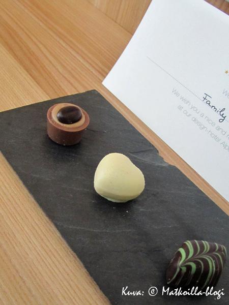 Suklaa on aina mukava tervetulotoivotus. Kuva: © Matkoilla-blogi