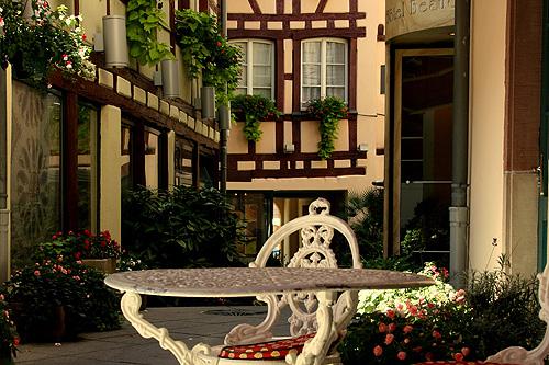 Hotellin sisäpiha. Kuva: Hotel Beaucour, Strasbourg