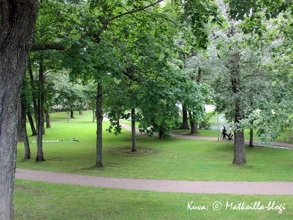 Kappelinpuisto (tuttu nykyään myös Valion TV-mainoksesta). Kuva: © Matkoilla-blogi