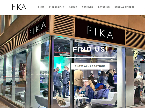 FIKA -ruotsalainen kahvilaketju New Yorkissa. Kuva: Fikanyc.com