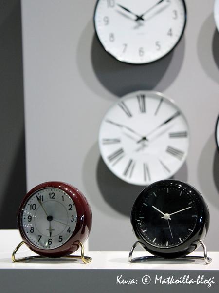 Georg Jensenin pöytäkellot. Kuva: © Matkoilla-blogi