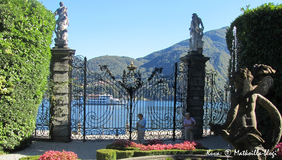 Villa Carlottan puutarha, Como-järven rannalla, Italiassa. Kuva: © Matkoilla-blogi