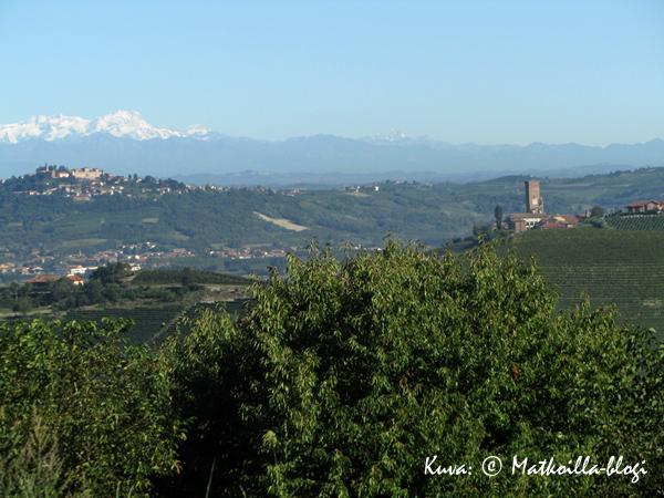 Barbarescon edustalta avautui huikaisevan kaunis näkymä alppeja kohti. Kuva: © Matkoilla-blogi