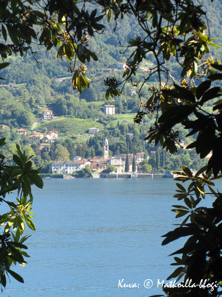 Näkymä kohti Bellagiota. Kuva: © Matkoilla-blogi