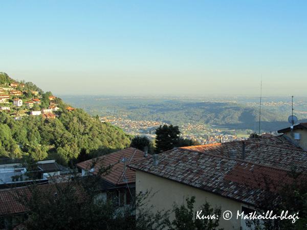 Näkymä Brunatesta kohti Milanoa. Kuva: © Matkoilla-blogi