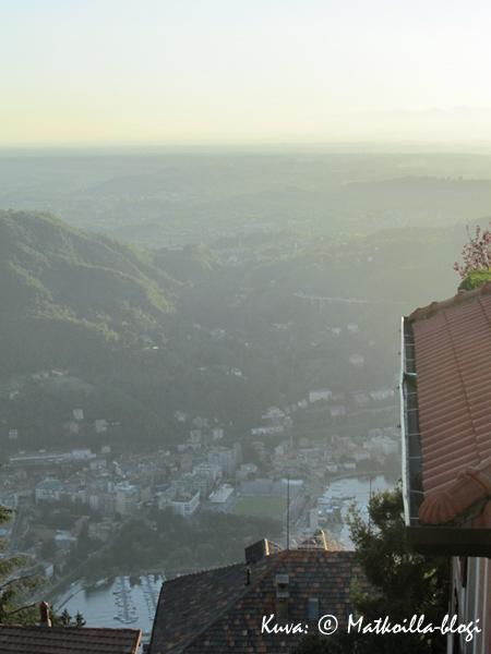 Näkymä Brunatesta Comoon. Kuva: © Matkoilla-blogi