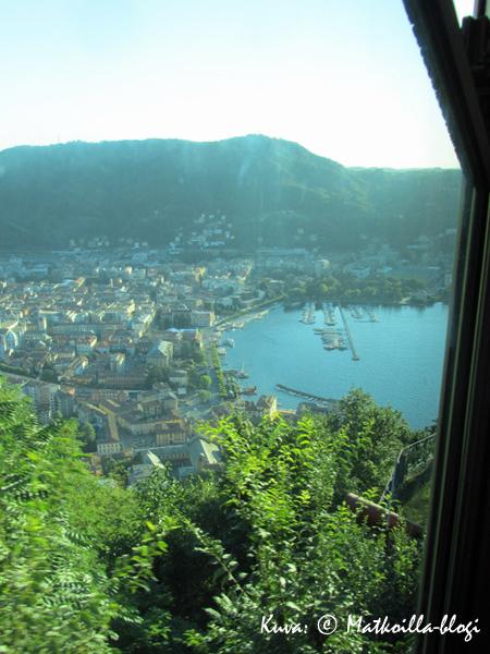 Comon kaupunki nähtynä Funicularesta, matkalla Brunateen. Kuva: © Matkoilla-blogi