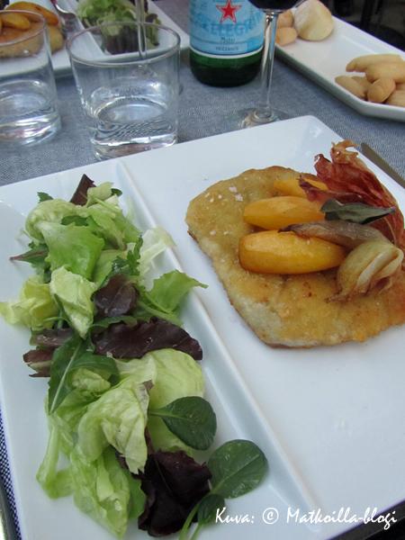 Milanossa piti tietenkin syödä Milanon leike! Kuva: © Matkoilla-blogi