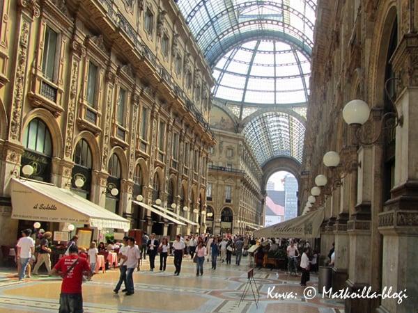 Milanon Gallerie Vittorio Emanuele II. Kuva: © Matkoilla-blogi