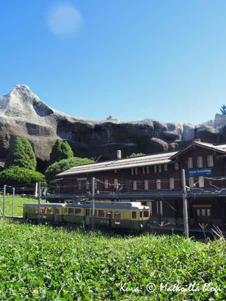 Kleine Scheideggin asema - tällä kertaa pienoiskoossa. Kuva: © Matkoilla-blogi