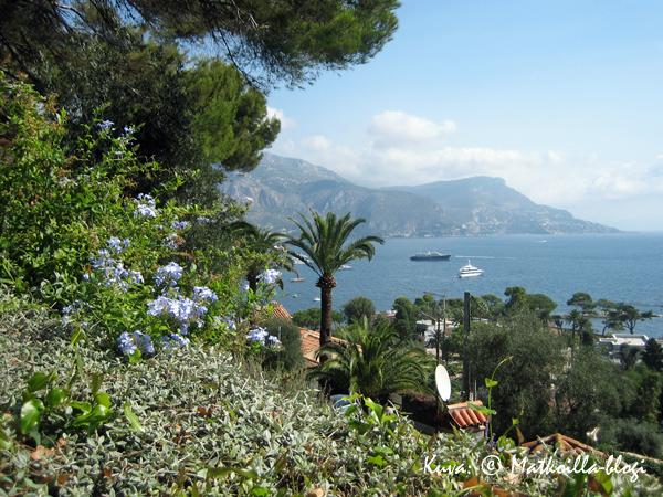 Näkymä Välimerelle Villa Ephrussin puutarhasta. Kuva: © Matkoilla-blogi