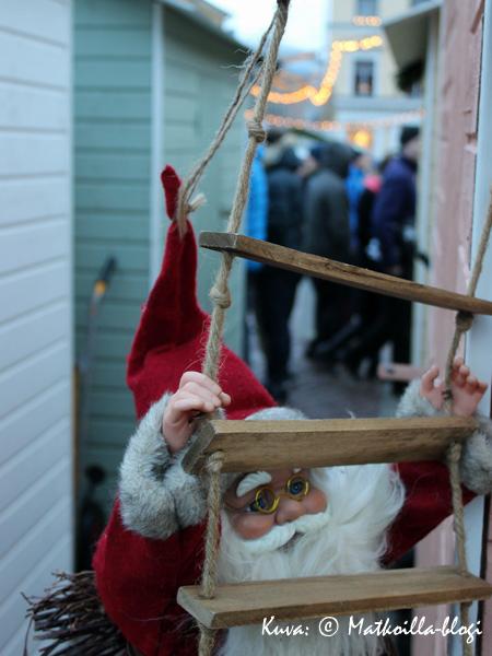Tottakai myös joulupukki oli paikalla. Kuva: © Matkoilla-blogi