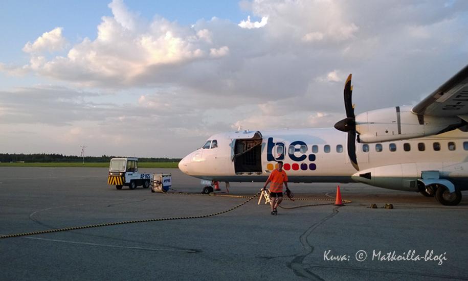 Flybe jatkaa lentoaan - mutta jatkossa millä nimellä? Kuva: © Matkoilla-blogi