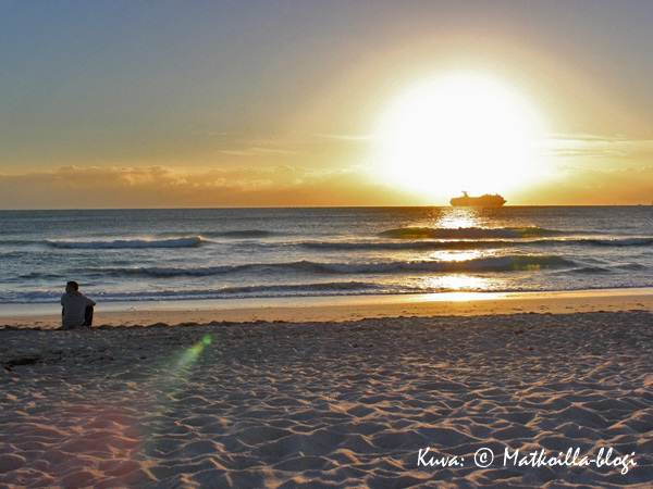 Auringonnousu Miami South Beachilla. Kuva: © Matkoilla-blogi