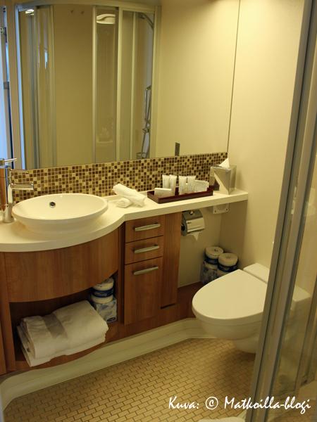 Kylpyhuone oli varsin tilava. Kuva: © Matkoilla-blogi