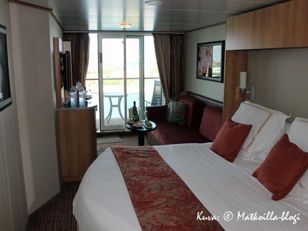 Tervetuloa meille - Stateroom nro 1649, Concierge Class). Kuva: © Matkoilla-blogi