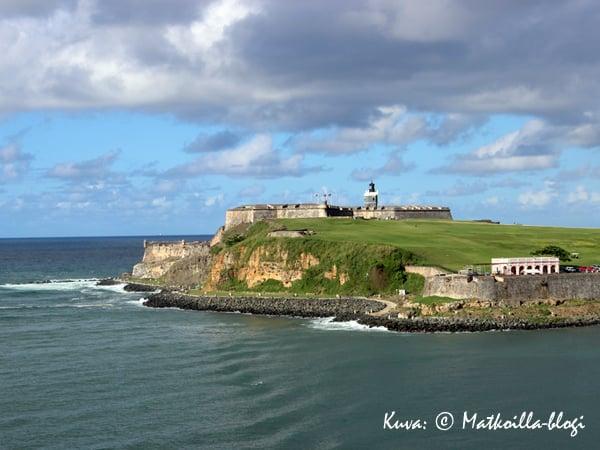 Castillo San Felipe del Morro - San Juanin sataman puolelta. Kuva: © Matkoilla-blogi