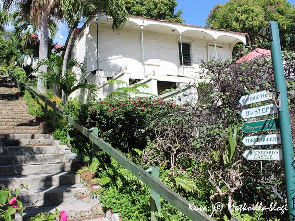 Kuuluisat 99 porrasta Charlotte Amaliessa. Kuva: © Matkoilla-blogi