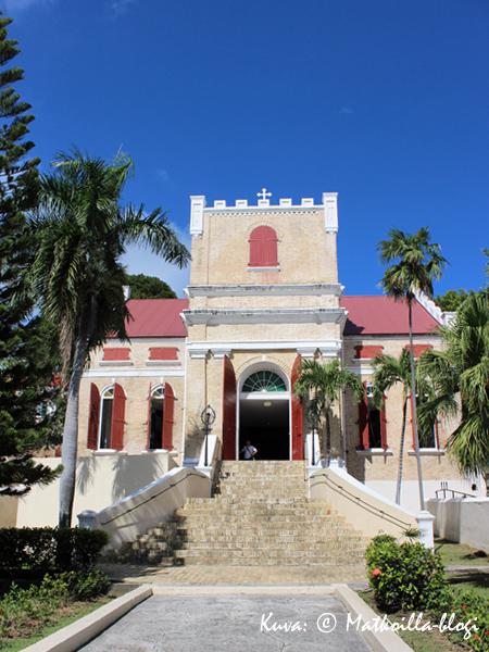 Luterilainen kirkko, Charlotte Amalie, St. Thomas. Kuva: © Matkoilla-blogi