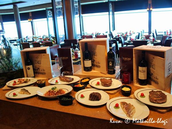 Tuscan Grill tarjoaa (päivällä) 180 asteen näkymät taaksepäin. Kuva: © Matkoilla-blogi