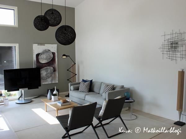Asuntomessut 2015: 13 - Designer 167,  olohuone. Kuva: © Matkoilla-blogi