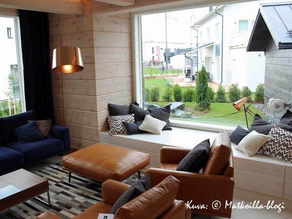 Asuntomessut 2015: 26 - Villa Kapee, olohuone. Kuva: © Matkoilla-blogi
