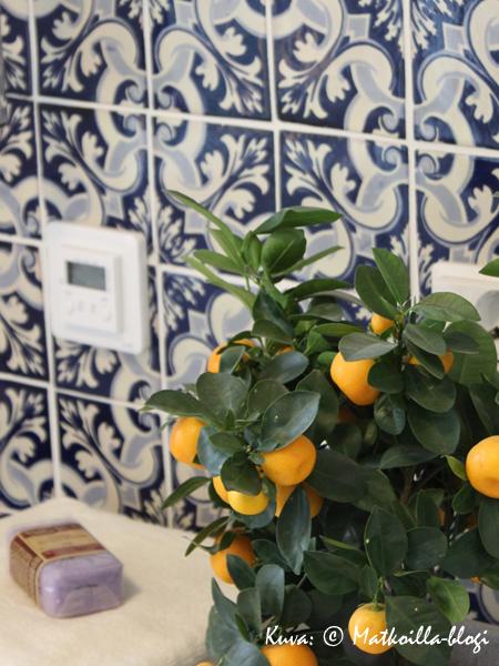 Asuntomessut 2015: 31 - Casa del Limon; sininen kaakeliseinä sopi hienosti talon henkeen. Kuva: © Matkoilla-blogi