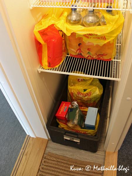 Asuntomessut 2015: 8 - Spinelli, palvelueteinen; tähän välitilaan/tuulikaappiin on pääsy esim. kaupan kotiinkuljetuspalvelulla. Kuva: © Matkoilla-blogi