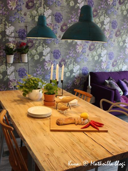 Asuntomessut 2015: 9 - Spinelli, olohuone; Ellen Jokikunnaksen suunnittelema sisustus. Kuva: © Matkoilla-blogi
