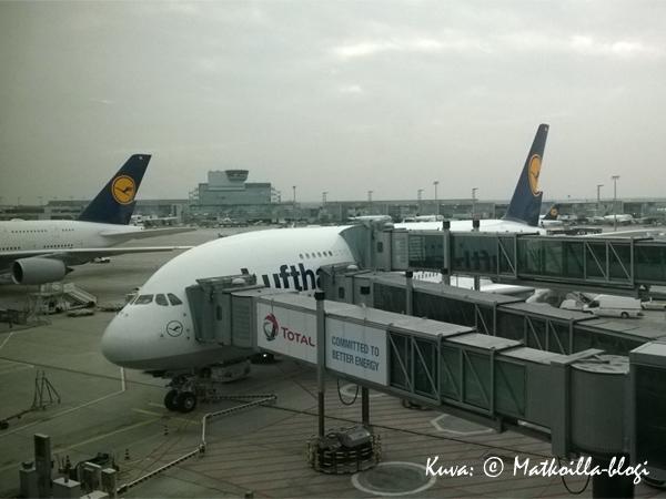 Lufthansan A380 - maailman suurin matkustajalentokone. Kuva: © Matkoilla-blogi