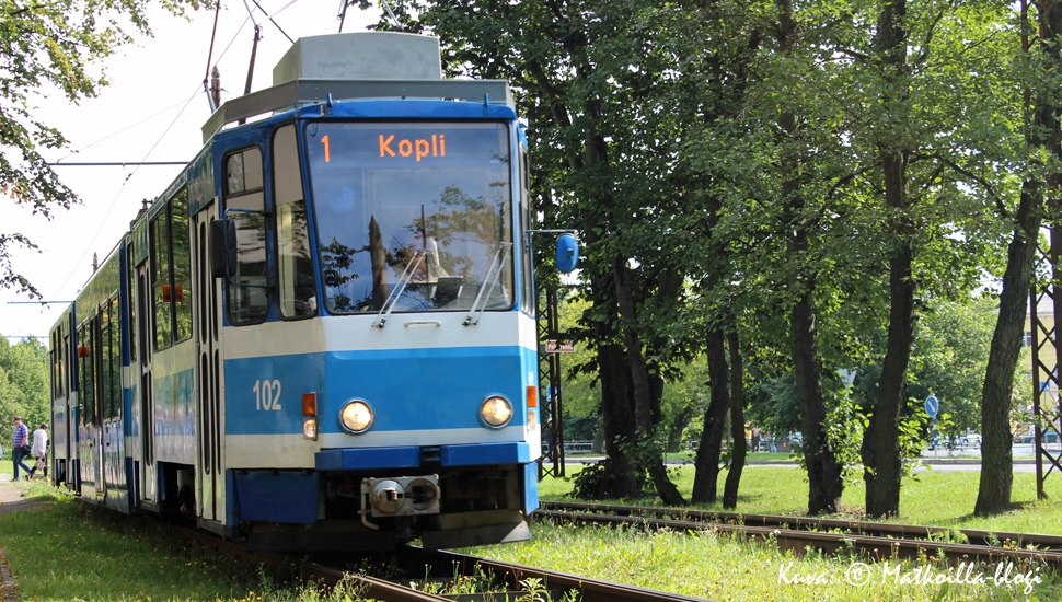 Raitiovaunulinja nro 1 Kopliin. Kuva: © Matkoilla-blogi