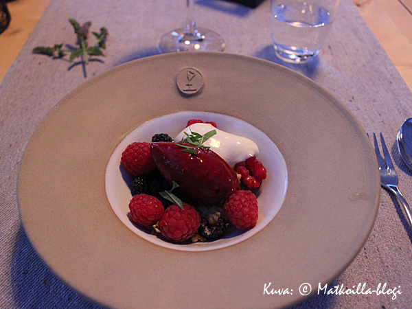 Aterian kruunasi raikas jälkiruoka. Kuva: © Matkoilla-blogi