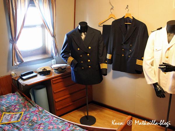 Kapteenin hytti. Kuva: © Matkoilla-blogi
