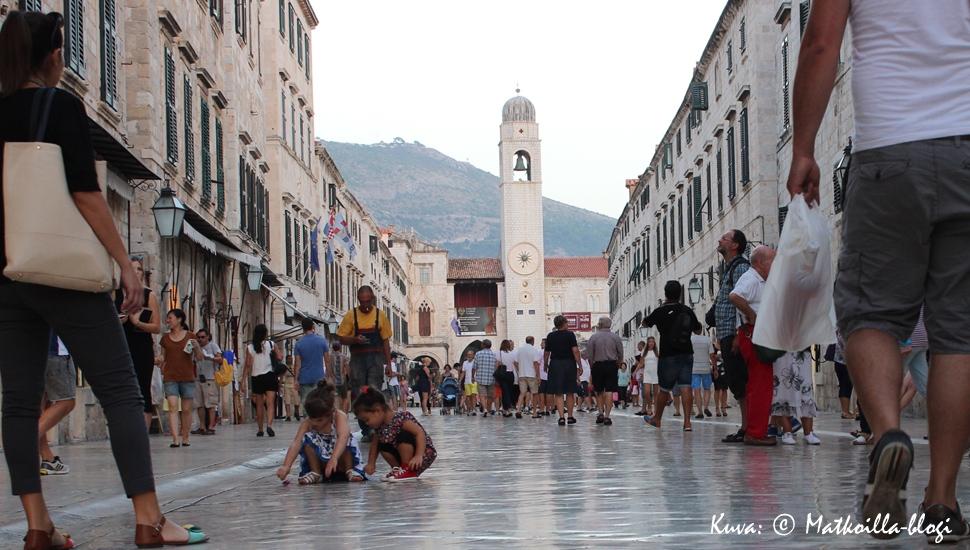 Keskiviikon kuva: Kävelykatu Stradun Dubrovnik, Kroatia. Kuva: © Matkoilla-blogi