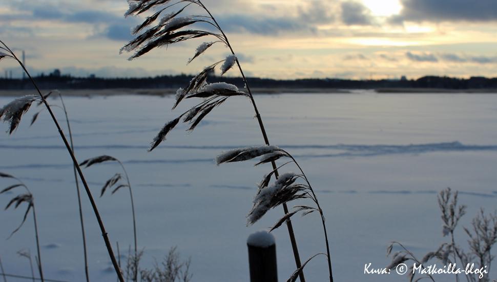 Keskiviikon kuva: Talvinen Laajalahti, VIlla Elfvikin rannasta. Kuva: © Matkoilla-blogi
